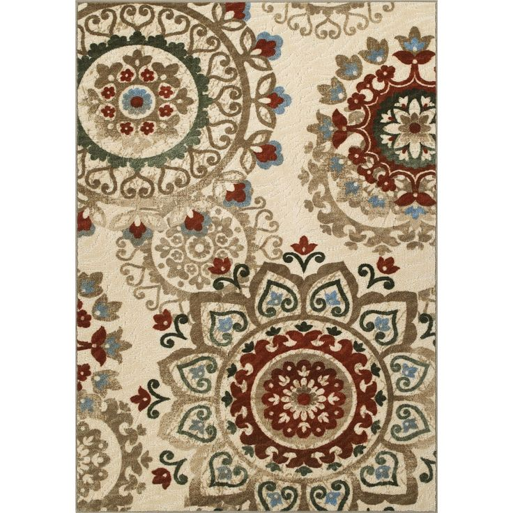 Skyline Chocolate Nylon Rug (4u002711 X 7u00274) (Skyline Ivory