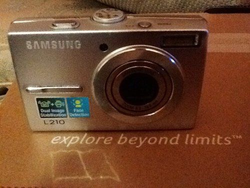Samsung L210 10.1MP Digital Camera with 3x Optical Image Stabilized Zoom (Black). Li-Ion battery and Charger included. 10.1-Megapixel Resolution - Up to 3264 x 2448 Stills, 640x480 Movie Clips at 30fps. 10MB Internal Flash Memory - We recommend purchasing an optional 2GB SD Memory Card for practical usage. 1/2.33 CCD Sensor. MPEG-4 Movie Recording mode lets you edit and zoom during filming.