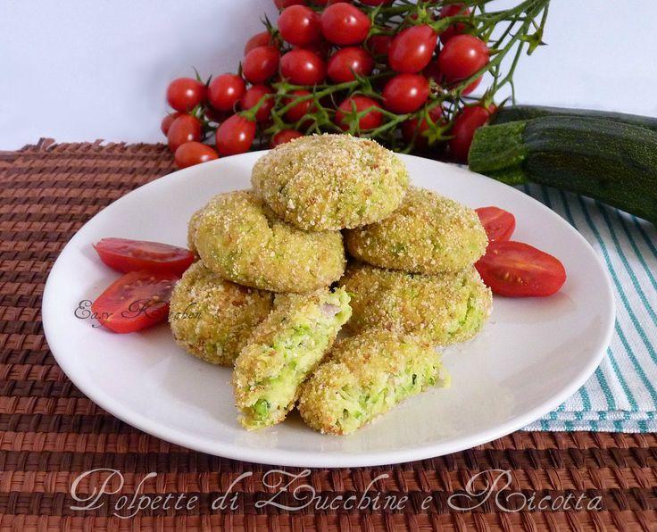 Polpette di zucchine e ricotta ricetta facile Easy Kitchen