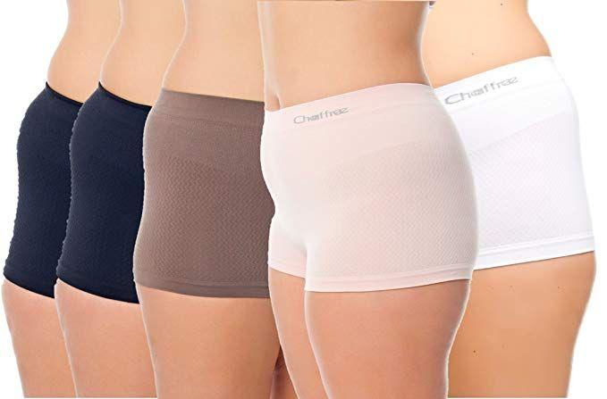 2fdb4585a Chaffree Women s Coolmax Performance Boyleg Briefs Boyshort Style Underwear  5Pck