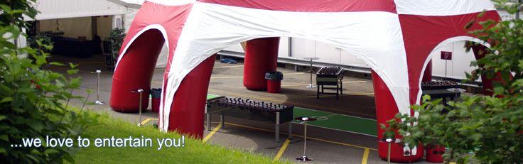 Aufblasbare Zelte- auf Miete / Rent - Event & Party Rentals in Sargans, Schweiz – bungy4rent