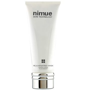 :: Nimue Skin Technology ::  Rejuvenating Mask  A cream mask that delivers instant results for a dramatically rejuvenated skin. Vitamin A and C Ester and Alpha Lipoic Acid provide an intensive treatment to revive the skin.  Eliminates the damaging effects of free radicals to produce a brighter, and clearer complexion. Reduces the signs of premature skin ageing. Super hydrating benefit imparts a soft, smooth and radiant skin.