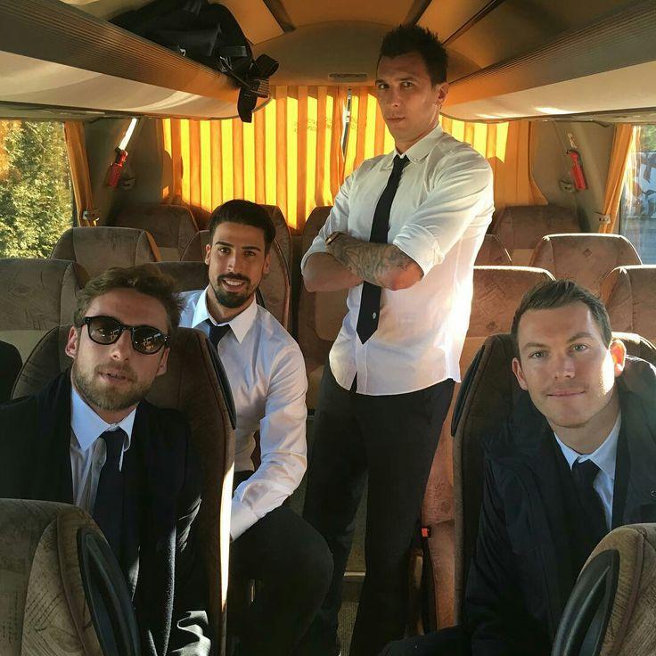 Claudio Marchisio, Sami Khedira, Mario Mandžukić, and Stephan Lichtsteiner