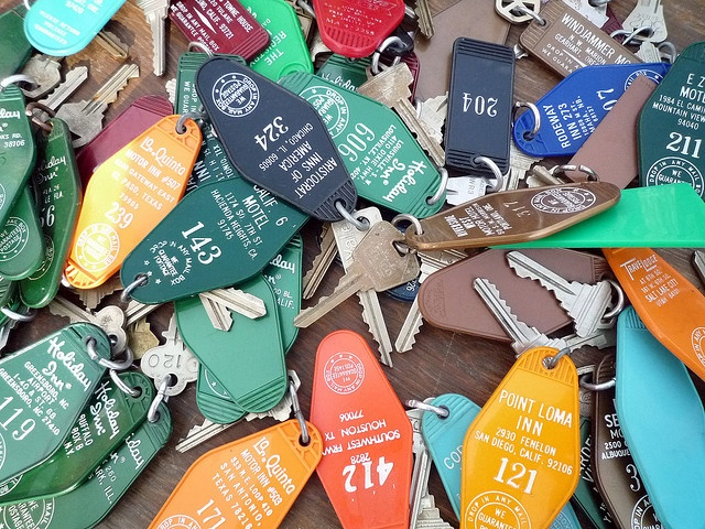 old hotel keys