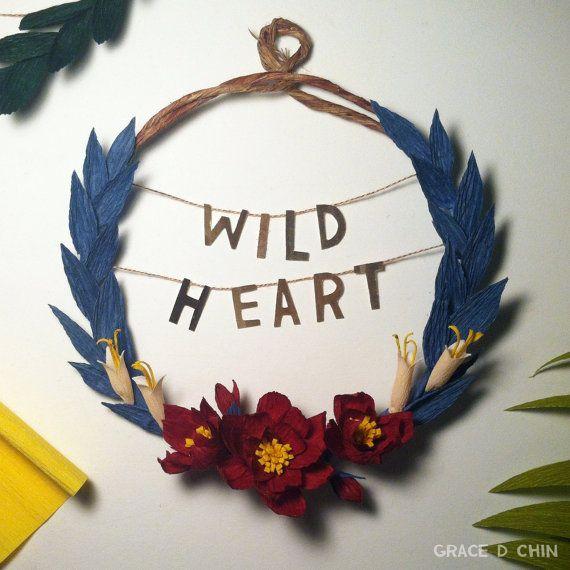 Wild Heart - Stevie Nicks crepe paper flower wreath