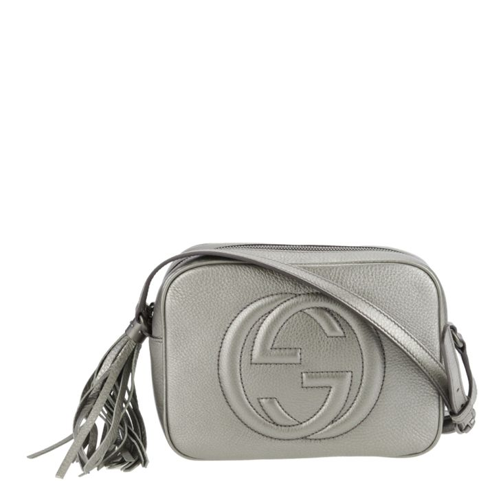 fdf34d2e0 Gucci Soho Disco Bag in Metallic silver. Available from www.wunderl.com |  Purses | Gucci soho bag, Soho disco bag, Gucci soho disco