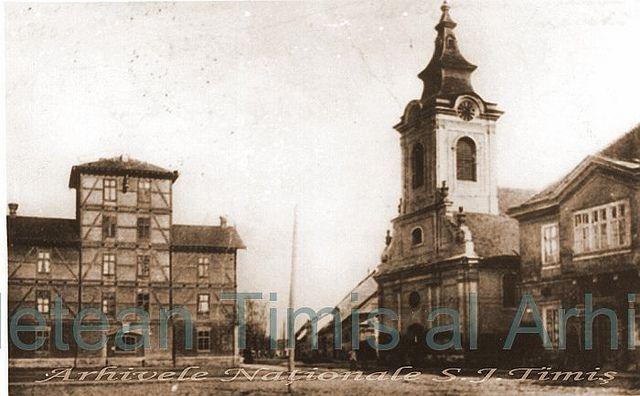Formatiunea de pompieri si Biserica Catolica cca 1900