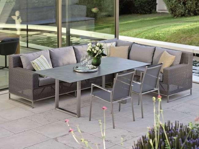 Stern Fontana Dining 3 Sitzer Loungesofaelement Geschlossen Ambiente Aussenmobel Outdoor Dekorationen Gartentisch