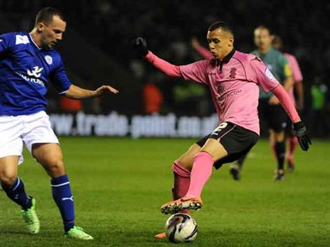 Ravel Morrison in action against Leicester City. April 2013. #BCFC