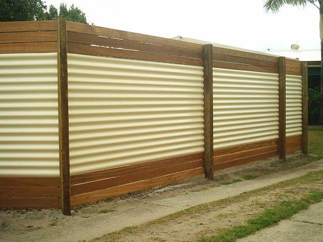 Corrugated Zincalume With 3 Balau Timber Slats On The Top