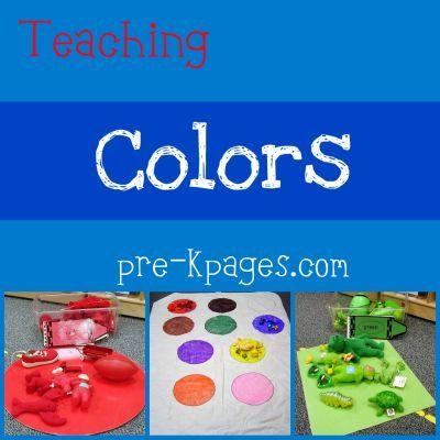 teaching colors in preschool