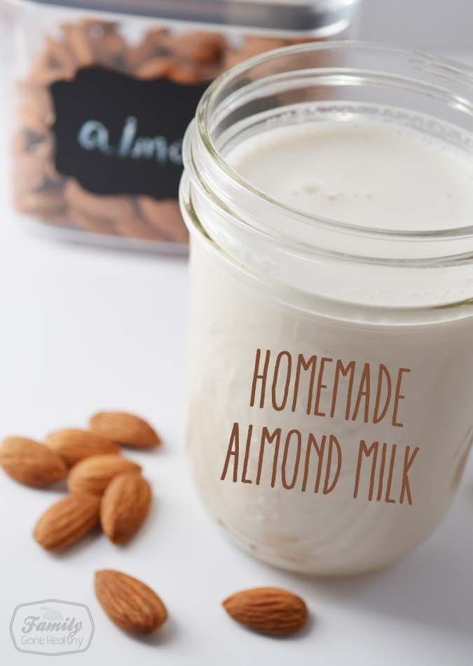 How To Make Your Own Almond Milk (and Almond Flour!) Save money.   #flour #almond #almondmilk