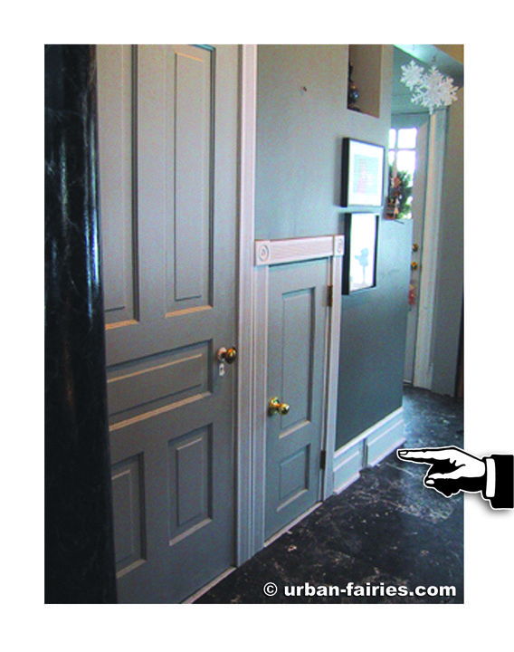 Our hallway where the 1st fairy door was discovered in 1993.  sc 1 st  Pinterest & 25 best Fairy Doors urban-fairies of Ann Arbor images on Pinterest ...