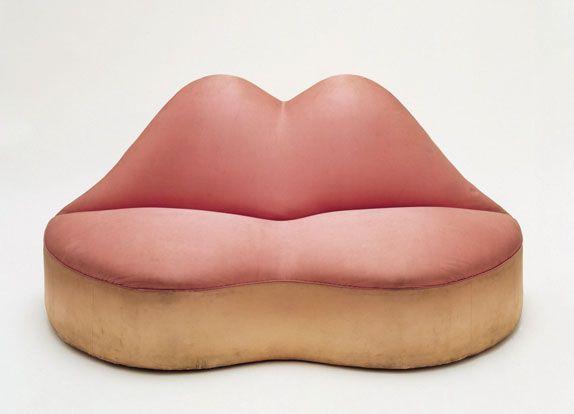 Salvador Dalí / Mae West lips sofa, 1937