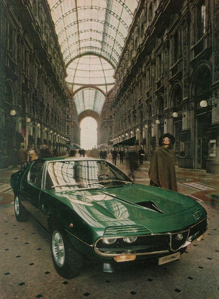 Milano. 70s. Glamour. Alfa Romeo Montreal.