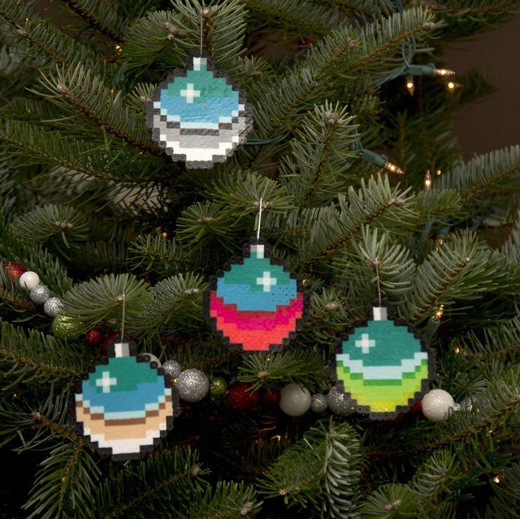 I Create Pixelated Christmas Ornaments For Your Retro Christmas Tree | Bored Panda