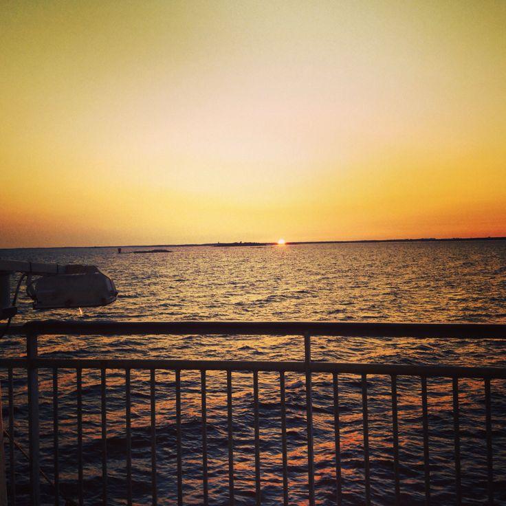 beautiful sunset in Helsinki 2014
