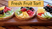 Smooth Vanilla Scented Pastry Cream in a Flaky Buttery Tart Shell bursting with lots of Plump and Juicy Berries and Fruit MAKING 1. In a saucepan heat milk...