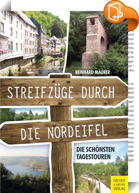 """Streifzüge durch die Nordeifel    :  Reinhard Mäurer besucht die unterschiedlichsten Orte in der Eifel. Seine Streifzüge führen ihn, von Aachen ausgehend, unter anderem nach Eupen, in die schöne Landschaft des Hohen Venns und in die Perle der Eifel, das beschauliche Monschau. Auch stattet er dem Kneippkurort Bad Münstereifel sowie der berühmten Apollinarisquelle bei Bad Neuenahr einen Besuch ab. Ein Besuch der Abtei Mariawald bei Heimbach ist wegen ihrer berühmten """"Eazezupp"""" ebenso ein..."""