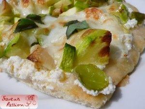 pizza verde féves courgette basilic
