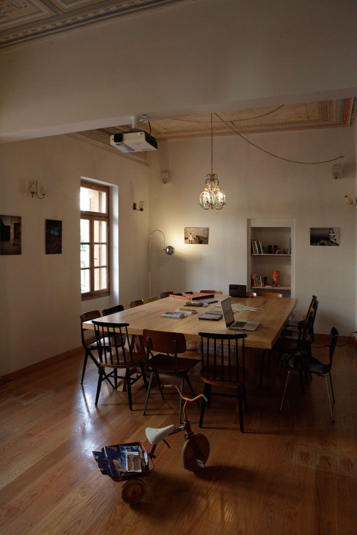 City Circus Hostel in Athens, Greece | YatzerCities Circus, Families Tables, Work Tables, Athens Greece, Interiors Design, Big Tables, My Children, Community Tables, Circus Hostel