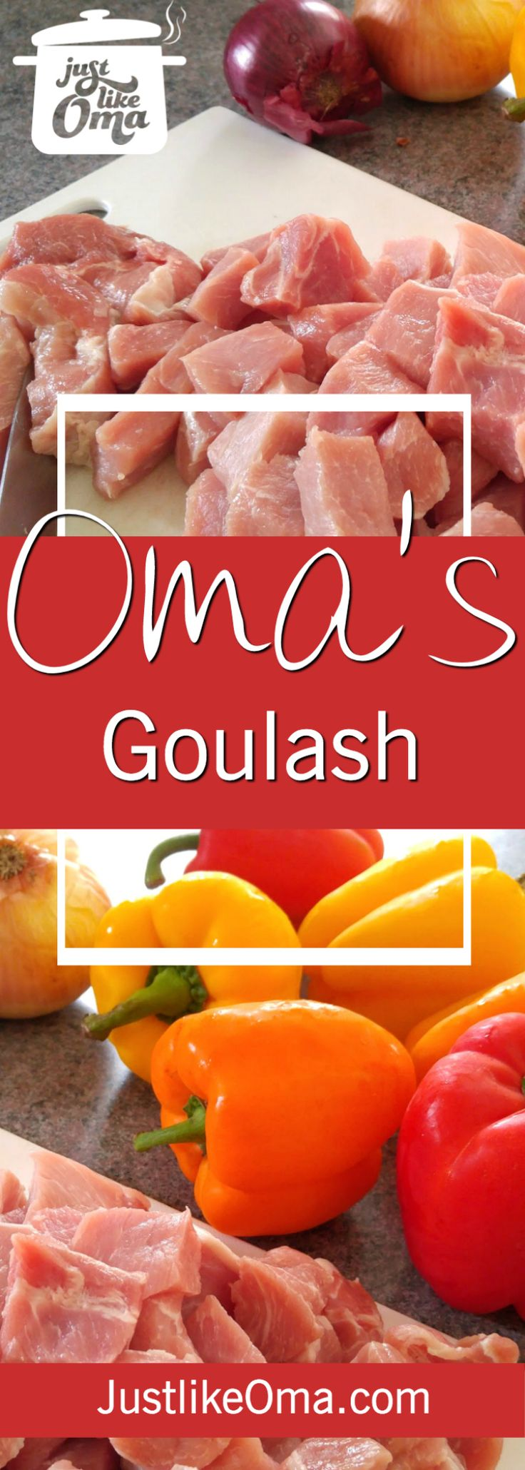 Making goulash soup after finding boneless pork chops and peppers on sale. Here's how: http://www.quick-german-recipes.com/goulash-soup.html ~ Oma Gerhild ❤️ ➤ I usually use beef, but when something's on sale, this Oma just needs to buy it!