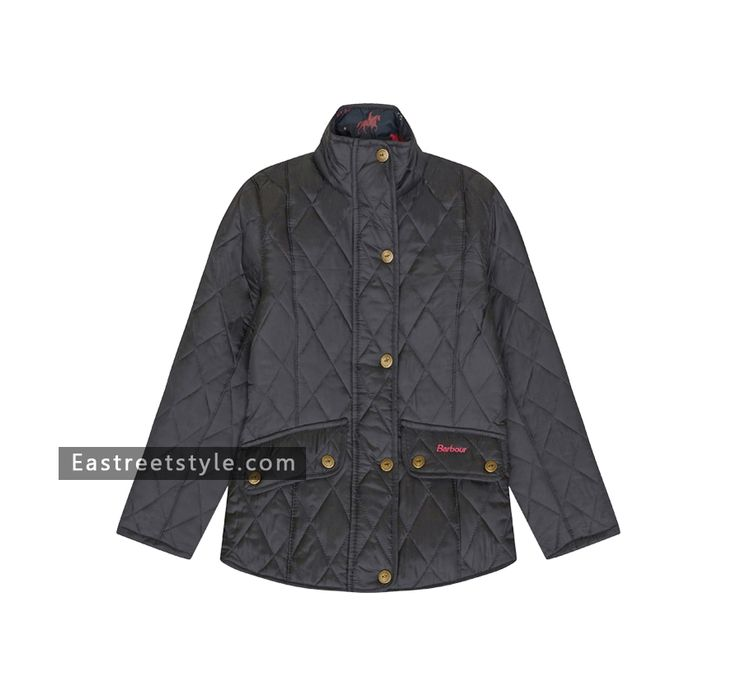 Barbour Girl's Banham Quilted Jacket at www.eastreetstyle.com #Barbour Jackets Sale