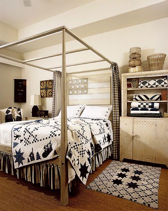 Beautiful primitive bedroom.