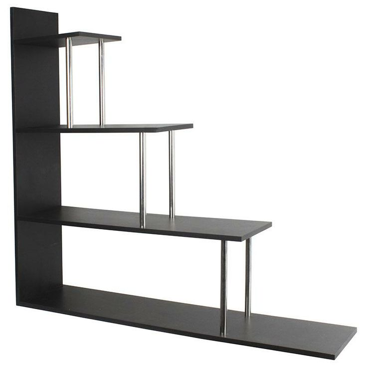 Wooden shelf in black color www.inart.com