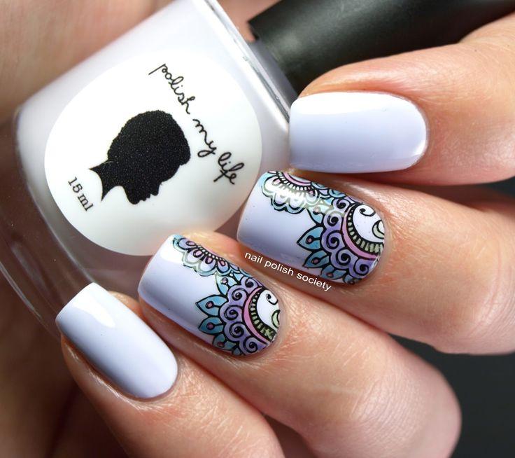 Nail Polish Society>> Lead Light Stamping Over Polish My Life Muskrat Martini #nailart #beautyinthebag #nails