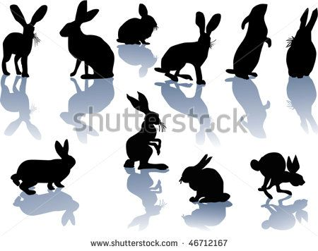 rabbit head silhouette - Google Search