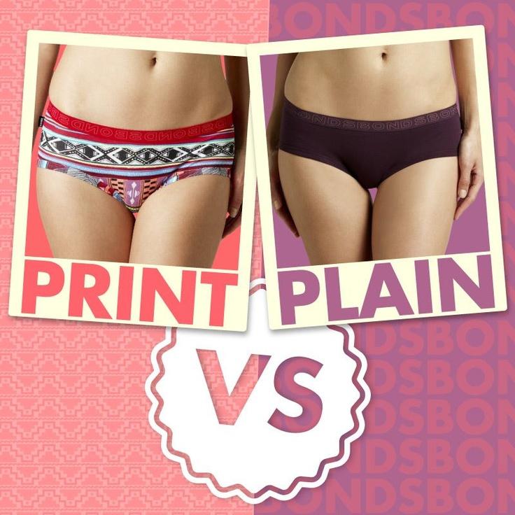 Do wear printed or plain undies?