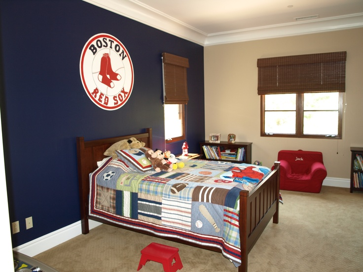 14 best images about red sox room on pinterest my mom for Boston red sox bedroom ideas
