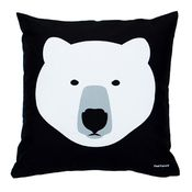 Image of White Bear, Black Bear cushion