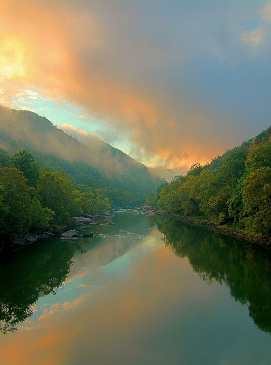 White water rafting in West Virginia on the Gauley River