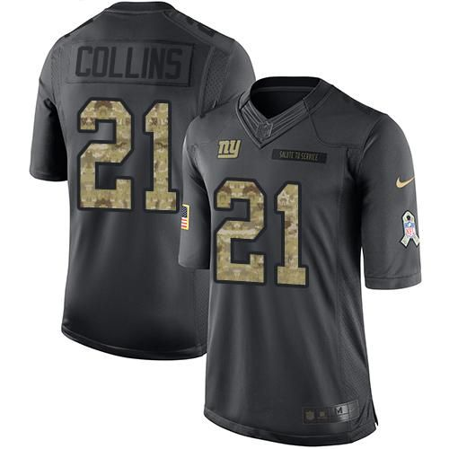 Nike Giants #21 Landon Collins Black Youth Stitched NFL Limited 2016 Salute to Service Jersey