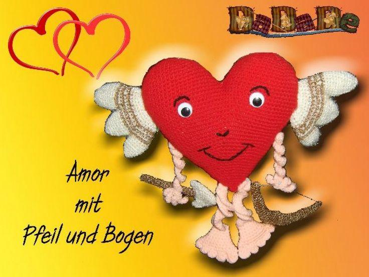 Herz Amor, mit Pfeil und Bogen, Häkelanleitung für Verliebte - MyPatterns