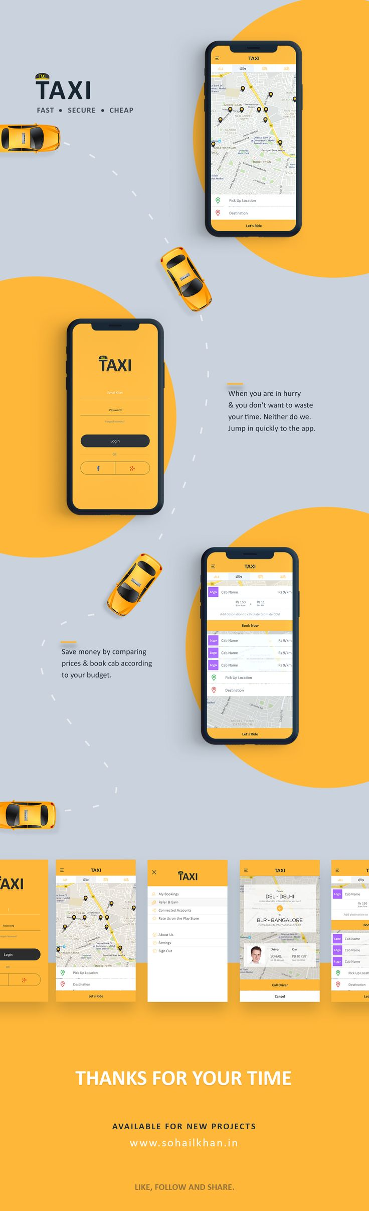 "Check out this @Behance project: ""Taxi 