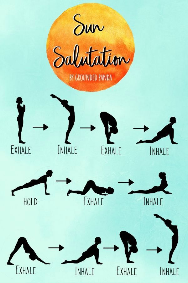 Sun Salutations are how I began my yoga practice, with a little printed piece of…