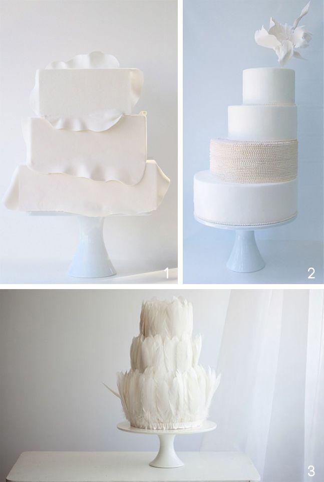 Lovely white wedding cakes