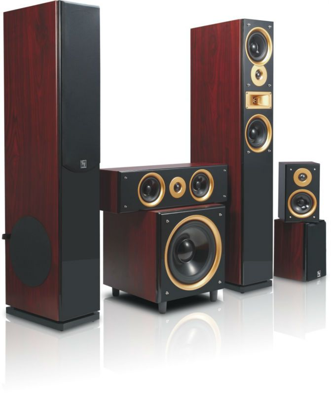 Wooden Active 51ch Home Theater Audio Speakers