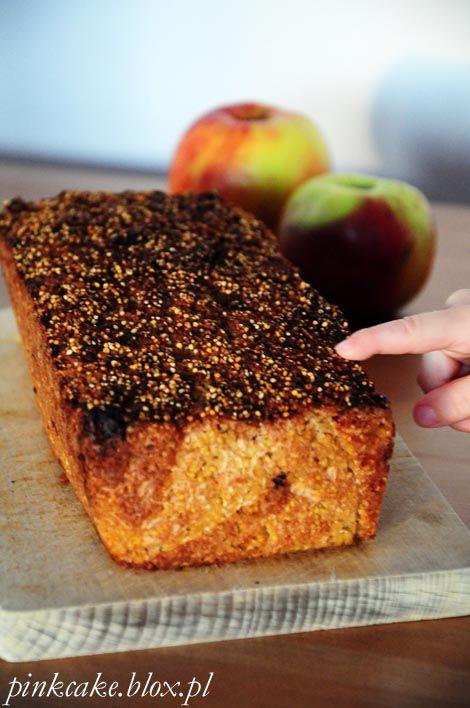 Ciasto z kaszy jaglanej i jabłek, jabłkownik jaglany, wegańskie ciasto jaglane, ciasto jabłkowe z kaszy jaglanej