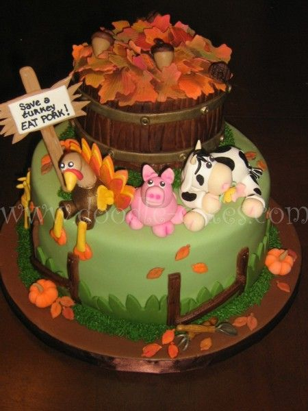 Fall Themed Cake    http://doodle-cakes.com/images/cakes/fall-leaves-cake8resize.jpg