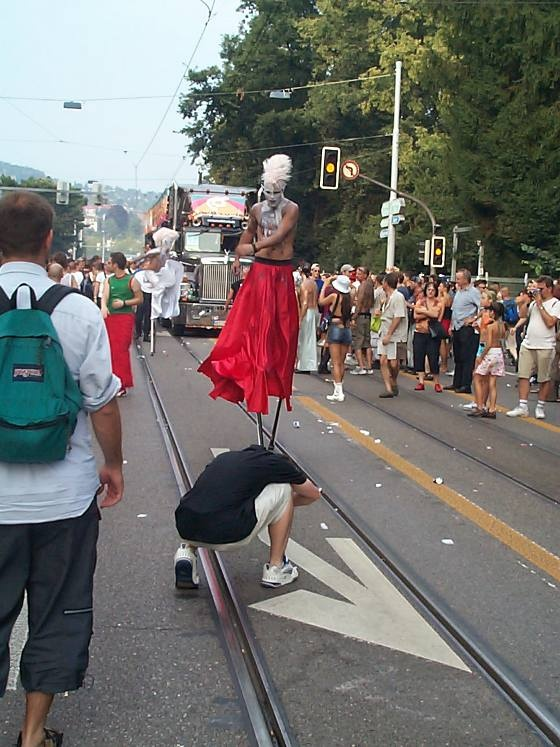 Streetparade Zurich. Lovemobile and Giants