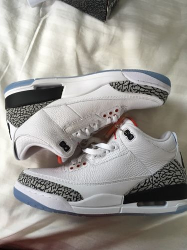 27bf8219553e Details about Air Jordan 3 Retro NRG Dunk Contest Free Throw Line 88 White  Cement Size 12