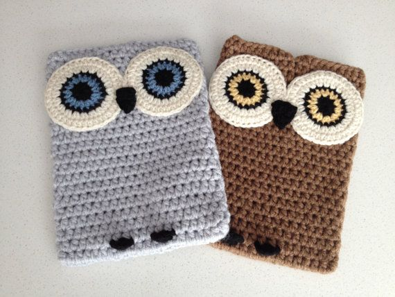 Crochet Owl Ipad Case by peanutbutterdynamite on Etsy