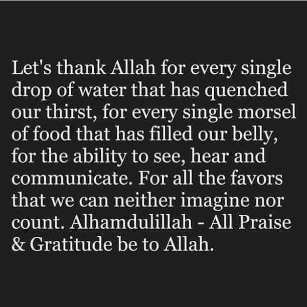 Alhamdulillah for everything! Allah ♡ you