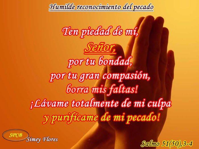 Salmos Proverbios y Citas Bíblicas: Humilde reconocimiento del pecado (SALMO 51 (50), ...