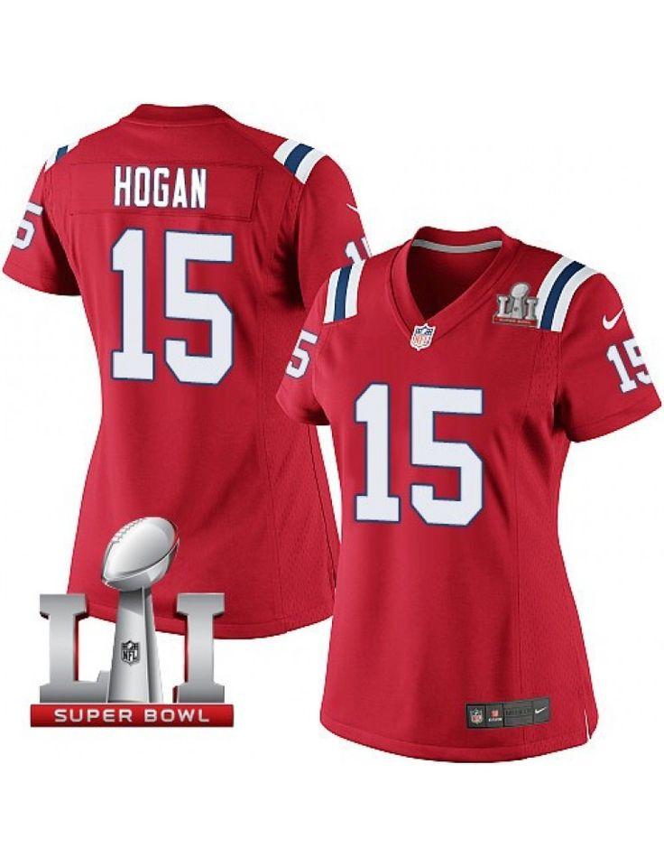 New England Patriots Nike Women's #15 Chris Hogan Limited Red Alternate Super Bowl LI 51