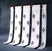 japanese heian era style curtains and other decorative items